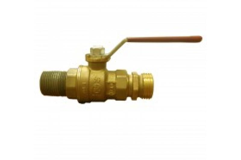 "Poly-Mart 3/4"" Brass Ball Valve Assembly (Lead-Free)"