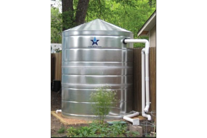 Galvanized Steel Water Storage Cistern Tank - 1000 Gallon