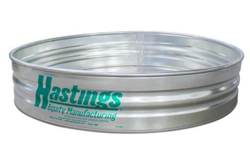 Hastings 22GA Steel Round Sheep Stock Tank - 7\' x 1\' - 262 Gallon