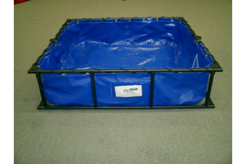 Husky Hazmat Steel Decontamination Pool - 4\' x 4\' x 1\'